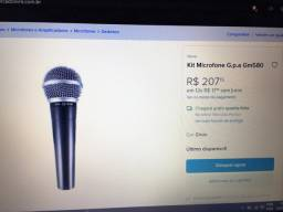 Microfone top, com cabo p10