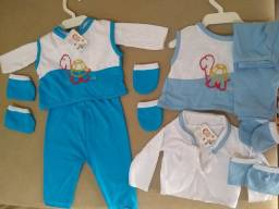 conjunto RN 5 peças por 12,00 roupa de bebê (2 conjuntos)