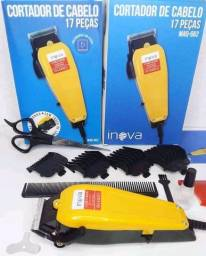 Máquina de cortar cabelo-INOVA 17 peças R$135,00(Entrega Gratis)