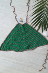 Top Cropped Triangulo Verde Tam. P