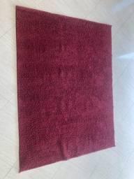 Tapete Retangular Poliéster (150x200cm) Vermelho