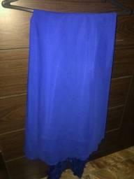 Vestido azul Longo Festa