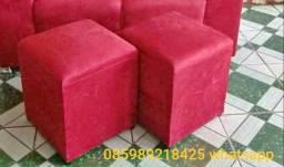 Promoção puffs apenas 30,00 a unidade avista disponível nessa cor vermelho