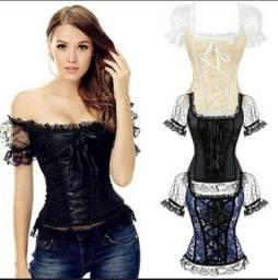 Dourados-MS Espartilho gótico corset NOVO 50.00