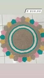 Título do anúncio: Tapete  Flores em Crochê