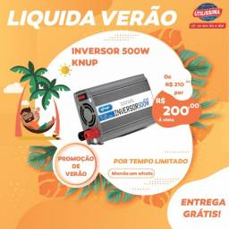 Título do anúncio: Inversor Conversor Transformador Knup 500w 12v 110v KP-507