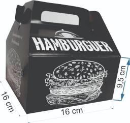 Caixa Embalagem Hambúrguer Black Maleta Grd Delivery 45 Un.