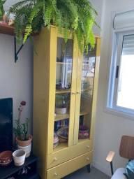 Cristaleira Mdf amarela