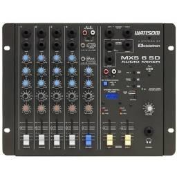 Mesa de som wattsom mxs-6 / 6 meses de uso apenas
