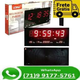Relógio Parede Digital Painel Led Grande , data , termometro 46 centimetros (NOVO)