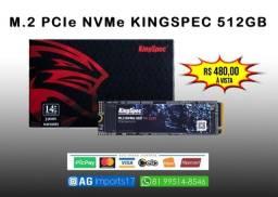 SSD M2 PCIe NVMe - KingSpec 512gb