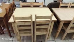 Mesas de madeira maciça