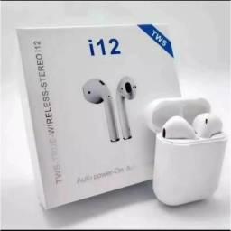 Fone de ouvido Bluetooth i12 Tws Touch Airpods v 5.0 Branco
