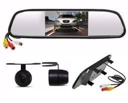 Retrovisor com Câmera de Ré Kit Completo Automotivo