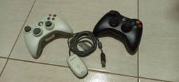 Controle Xbox com adaptador para computador