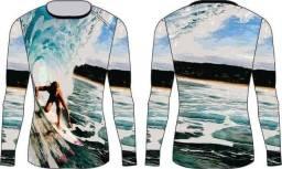 Título do anúncio: Camisa termica Mar surf praia surfista onda