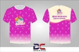 Camisa com Sublimação Localizada e Total 100% Personalizada