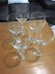Taças de cristal + aerador de vinho