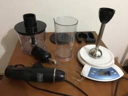 Mixer e mini-processador + balança
