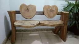 Linda namoradeira banco de madeira macica rustica