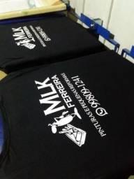 Camiseta Personalizada Serigrafia e Sublimação