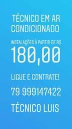 Instalações de ar condicionado a partir de r$180,00!