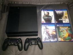 Playstation 4 (ps4) + 5 jogos