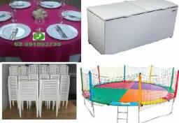 Locação de mesas e freezer , pula pula