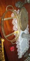 Antiguidade em dourado so colcar pirex oval