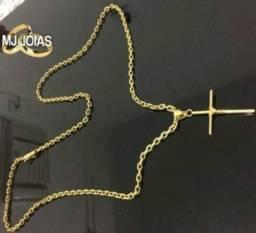 Cordão banhado a ouro 70cm 4mm