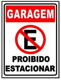 Placa Proibido Estacionar
