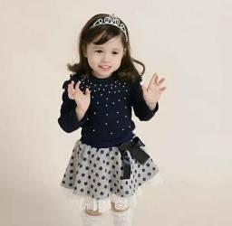 Conjunto infantil saia blusinha entrega gratuita x83bs 8c4c66e09d4