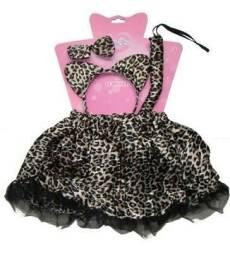 Vestido fantasia infantil de gatinha entrega gratuita lsh38 673bc92f98a
