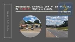 BA0007 Barracão à venda, 350 m² área 1650 m²por R$ 890.000 - Centro - Mandirituba/PR