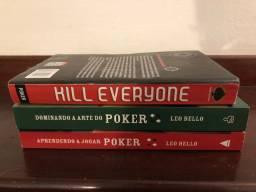 Livros de Poker - 3 exemplares