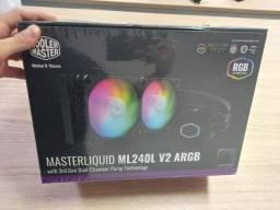 Water Cooler MasterLiquid ML240L Argb 240mm lacrado controladora de fan