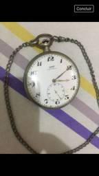 Raríssimo Relógio De Bolso Tissot Prata 57mm