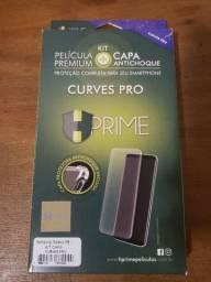 Kit película premium curves pro + capa antichoque Samsung S8
