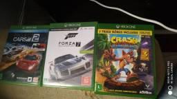 Vendo ou troco jogos do Xbox one Forza 7, crash bandicoot(3 em 1) e project cars 2.