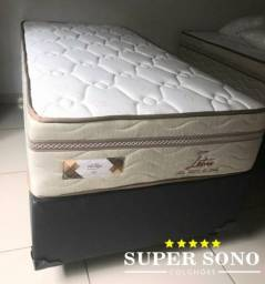 Conjunto Cama Box Lotus Pelmex Solteiro 88x188 Mola Bonnel Prolastic