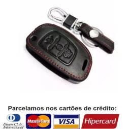 Capa Chave Canivete Hyundai Hb20 Hb20s Hb20x Couro Chaveiro