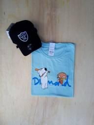 Kit camiseta 10 peças + corrente grátis