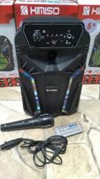 Caixa De Som Kimiso Karaoke Wireless Bluetooth (aceitamos cartão)