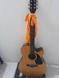 Violão folk Catuway cordas 0.10 Som Profissional Amplificado.