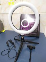 Ring Light 26cm + Tripé de Mesa [Novo na Caixa]