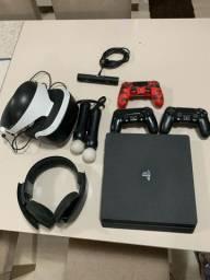 PS4 + VR + jogos