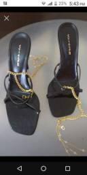 Sandália de salto com tornozeleira Twister