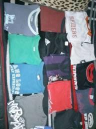 Lote 30 camisas novas originais g +40 cabides