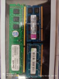 Memórias para computador e notbook 4 Gb cada valor na descrição