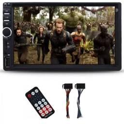 Multimídia mp5 Com espelhamento Din duplo Usb Bluetooth
